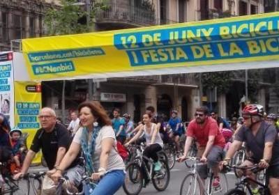Bicicletada i festa de la bicicleta BCN 2016